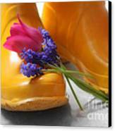 Spring Boots Canvas Print by Cathy  Beharriell