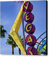 Vegas Sign Canvas Print by Garry Gay