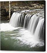 0805-005b Falling Water Falls 2 Canvas Print by Randy Forrester
