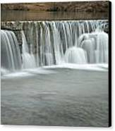 0902-7025 Natural Dam 3 Canvas Print by Randy Forrester