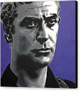 - Michael Caine - Canvas Print by Luis Ludzska