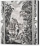 1731 Scheuchzer Creation Adam & Eve Canvas Print by Paul D Stewart