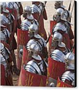 Actors Re-enact A Roman Legionaries Canvas Print by Taylor S. Kennedy