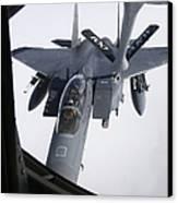 Air Refueling A F-15e Strike Eagle Canvas Print by Daniel Karlsson
