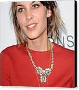 Alexa Chung At Arrivals For The Canvas Print by Everett