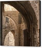 Alley In Jerusalem Canvas Print by Noam Armonn