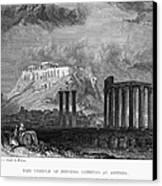 Athens: Olympian Zeus Canvas Print by Granger