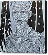 Barack Obama Canvas Print by Lourents Oybur