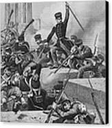 Battle Of Chapultepec, 1847 Canvas Print by Granger