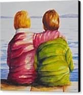 Best Friends Canvas Print by Debra  Bannister