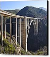Bixby Bridge Crossing A Chasm Canvas Print by David Buffington