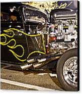 Black Hot Rod Big Engine Canvas Print by Pictures HDR