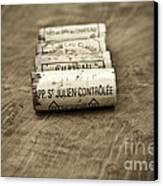 Bordeaux Wine Corks Canvas Print by Frank Tschakert