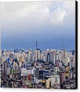 Buildings Of Downtown Sao Paulo Canvas Print by Jeremy Woodhouse