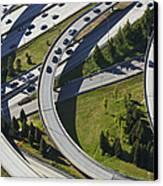 Busy Freeway Interchange Canvas Print by Don Mason