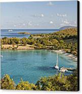 Caneel Bay Panorama Canvas Print by George Oze