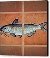 Catfish Canvas Print by Andrew Drozdowicz