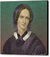 Charlotte Bronte, English Author Canvas Print by Photo Researchers