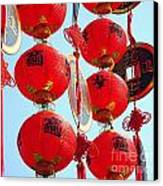 Chinese New Year Decorations Canvas Print by Yali Shi