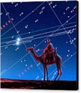 Christmas Star As Planetary Conjunction Canvas Print by Detlev Van Ravenswaay