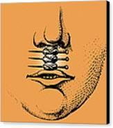 Cleft Lip Canvas Print by Mehau Kulyk
