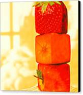 Conceptual Image Of Genetically-engineered Fruit Canvas Print by Victor Habbick Visions