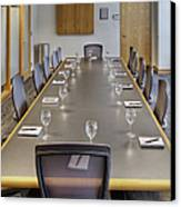 Conference Table And Chairs Canvas Print by Andersen Ross