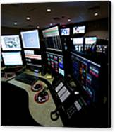 Control Room Center For Emergency Canvas Print by Terry Moore