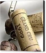 Corks Of French Wine Canvas Print by Bernard Jaubert