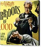 Corridors Of Blood, Boris Karloff, 1958 Canvas Print by Everett