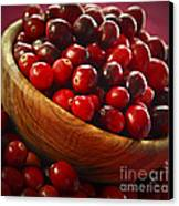 Cranberries In A Bowl Canvas Print by Elena Elisseeva