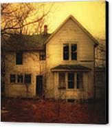 Creepy Abandoned House Canvas Print by Jill Battaglia