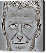 David Beckham In 2009 Canvas Print by J McCombie
