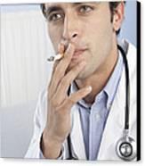 Doctor Smoking Canvas Print by Adam Gault