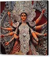 Durga Goddess 2012 Canvas Print by Rajan Advani