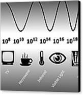Electromagnetic Spectrum Canvas Print by Friedrich Saurer