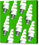 Energy-saving Light Bulbs, Artwork Canvas Print by Victor Habbick Visions