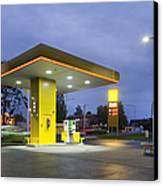 Estonian Gas Station At Night Canvas Print by Jaak Nilson