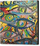 Eyes In Disguise Canvas Print by Forrest Kelley