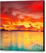 Fantasy Sunset Canvas Print by MotHaiBaPhoto Prints