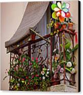 Flowery Balcony Canvas Print by Carlos Caetano