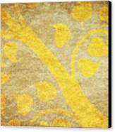 Golden Tree Pattern On Paper Canvas Print by Setsiri Silapasuwanchai