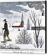 Great Snow Of 1717 Canvas Print by Granger