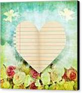 greeting card Valentine day Canvas Print by Setsiri Silapasuwanchai