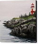 Head Harbour Lighthouse Canvas Print by Jack Skinner