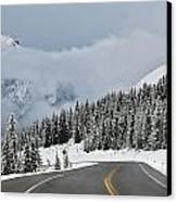 Highway 40 In Winter, Highwood Pass Canvas Print by Darwin Wiggett
