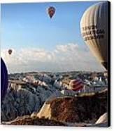 Hot Air Balloons Over Cappadocia Canvas Print by RicardMN Photography