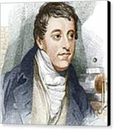 Humphry Davy, English Chemist Canvas Print by Sheila Terry