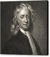 Isaac Newton, English Polymath Canvas Print by Science Source