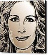 Julia Roberts In 2008 Canvas Print by J McCombie